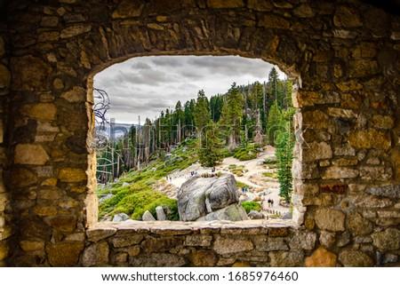 Yosemite Valley Window View, California