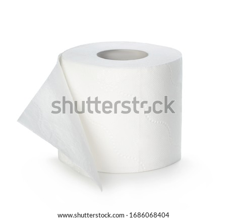 Toilet paper isolated on white background. #1686068404