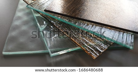 glass, ornamental, ornamental, decorative, for doors, for furniture, colored, transparent, made to measure, Royalty-Free Stock Photo #1686480688