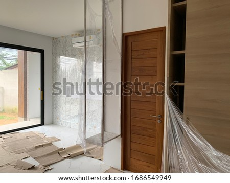 Interior design of a residential building is almost complete. #1686549949