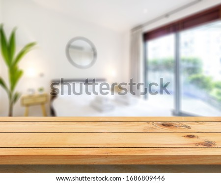 Table Top And Blur Bedroom of The Background #1686809446