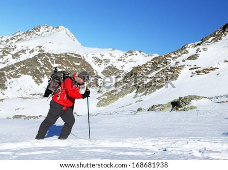 Winter alpine trekking #168681938
