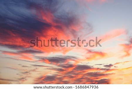 pink and orange light on clouds during sunset #1686847936