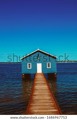 Crawley Edge Boat Shed from Perth Western Australia (Blue Boat Shed) #1686967753