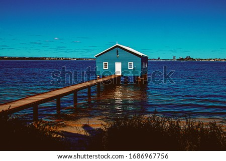 Crawley Edge Boat Shed from Perth Western Australia (Blue Boat Shed) #1686967756