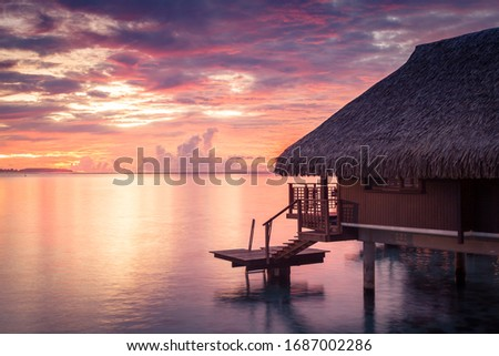 Overwater Bungalows in French Polynesia (Bora Bora and Moorea) #1687002286