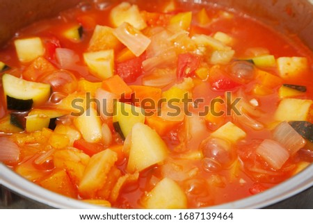 Ratatouille Cooking French summer vegetable dish #1687139464