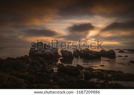 Ethereal Sunset on the California Coast.