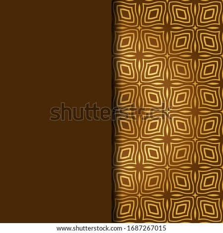 Luxury Traditional Ornamental Design. Card with Geometry Pattern. Vector Illustration. For Interior Design, Printing, Web And Textile Design.  #1687267015