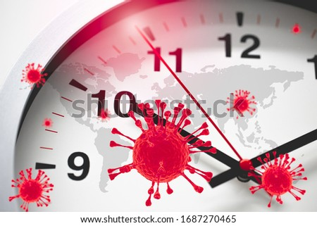 Coronavirus COVID-19 Global Virus Emergency Times Urgent time countdown concept. #1687270465