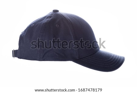 Navy blue baseball cap, men's fashion, isolated on a white background, product picture