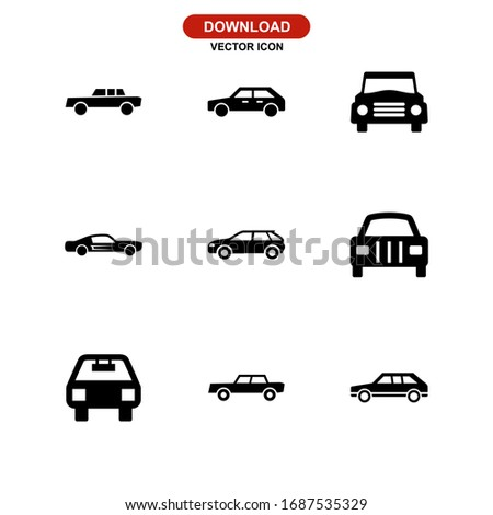 car icon or logo isolated sign symbol vector illustration - Collection of high quality black style vector icons  #1687535329