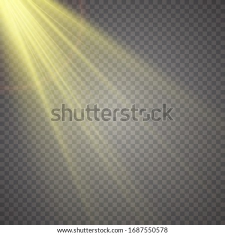 Glow isolated white transparent light effect set, lens flare, explosion, glitter, line, sun flash, spark and stars. #1687550578