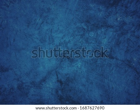 Beautiful Abstract Grunge Decorative Navy Blue Dark Stucco Wall Background. Art Rough Stylized Texture Banner With Space For Text,cement background #1687627690
