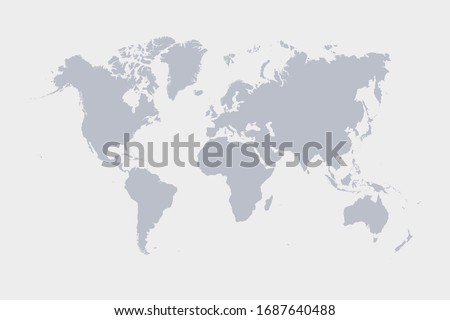 world map background simple design Royalty-Free Stock Photo #1687640488