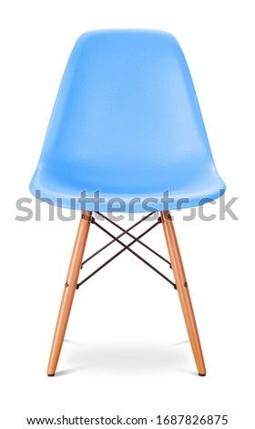 Blue, sky non-forgetful color chair, modern designer. Chair isolated on white background. Series of furniture #1687826875