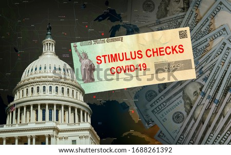 Understanding the Senate Stimulus Bill government US 100 dollar bills currency on Global pandemic Covid 19 lockdown Royalty-Free Stock Photo #1688261392