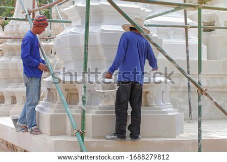 15 MAY 2014,Nonthaburi,Thailand:Mechanic a Temple pagoda in Koh Kred, Nonthaburi  #1688279812