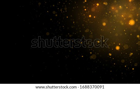 Light abstract glowing bokeh lights. Festive golden luminous background with colorful lights bokeh. Magic concept. Christmas concept. Abstract background with bokeh effect. #1688370091
