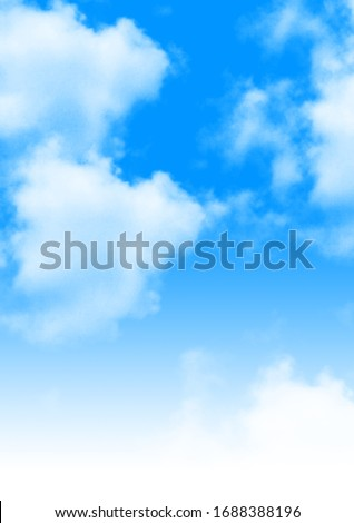 Blue Sky with White Background #1688388196