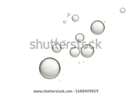 A nice transparent liquid with flowing bubbles