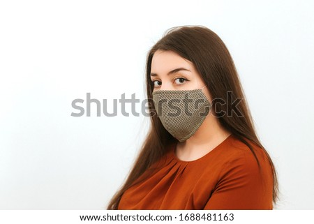 girl in a medical mask #1688481163