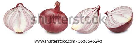 Onion collection. Ripe fresh onion clipping path. Onion isolated on white background. #1688546248
