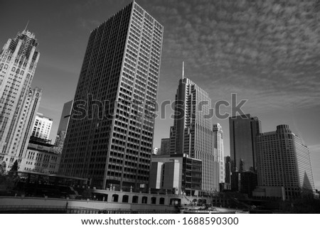 Chicago is known for its skyscrapers some of which can be seen in this picture