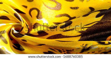 texture, pattern, background. leopard silk fabric. Screen printing on silk duck; This is a template for your accents. Create projects, wallpapers, postcards and more. Colors include brown and brown #1688760385