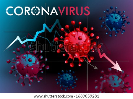 Viral vector.  COVID 2019 or just a virus.  Coronavirus banner to inform and prevent the spread of the disease.  World crisis. #1689059281