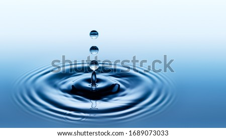 Water splash. Falling drop of rain. Royalty-Free Stock Photo #1689073033