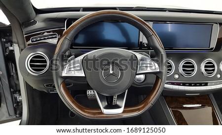 Mercedes Benz 2016 S 63 AMG  Convertible cockpit interior cabin details  #1689125050