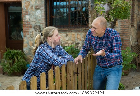 Getting to know the neighbors at the country houses in village #1689329191