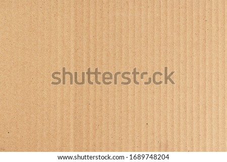brown cardboard paper of carton corrugated texture background Royalty-Free Stock Photo #1689748204