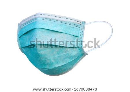 Doctor mask and corona virus protection isolated on a white background, With clipping path #1690038478