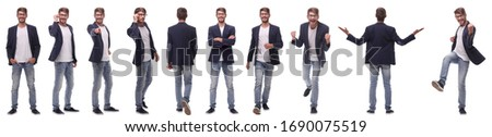 collage of various photos of a successful modern man Royalty-Free Stock Photo #1690075519