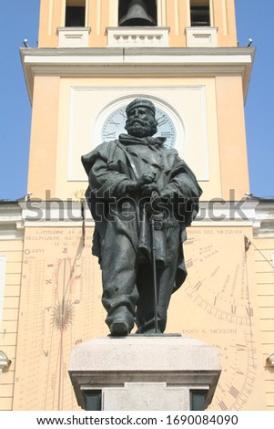 Parma, Italy : statue of Garibaldi in Square Garibaldi Royalty-Free Stock Photo #1690084090