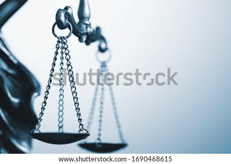 Close up detail of the scales of justice #1690468615