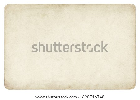 Vintage paper background isolated - (clipping path included)  #1690716748