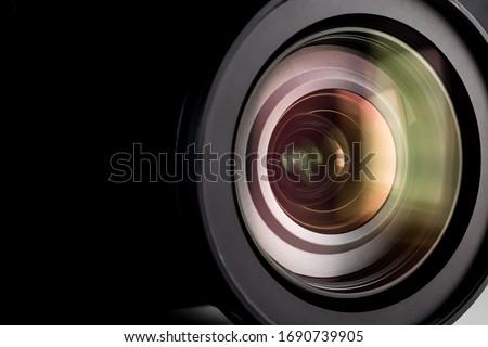 Close up of a digital camera lens. #1690739905