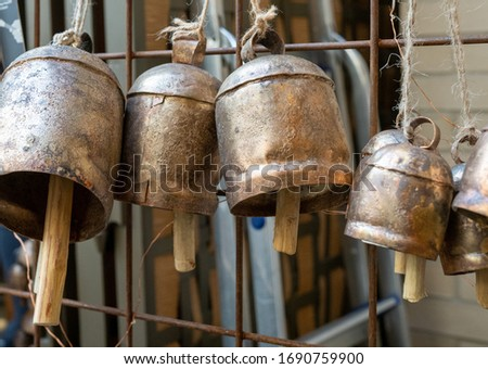 Lantern gong style bells hanging by string on wall on a sale #1690759900