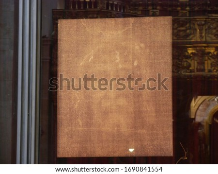 Turin – The Holy Shroud preserved in the Cathedral is the linen sheet used to wrap the body of Jesus in the tomb and on which the image has remained impressed #1690841554