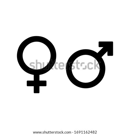 gender icons- male and female vectors.  Royalty-Free Stock Photo #1691162482