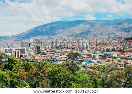 Panoramic city view, Medellin, Colombia #1691203627