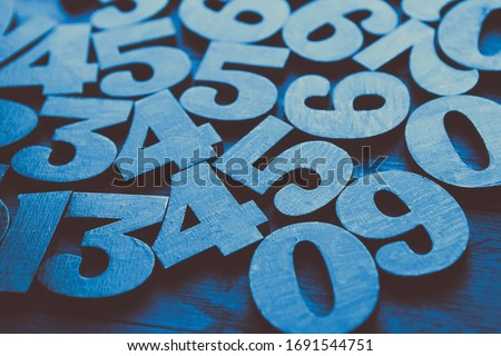 Background of numbers. from zero to nine. Numbers texture. Finance data concept. Matematic. Seamless pattern with numbers. financial crisis concept. Business success.  #1691544751