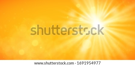 Abstract sunny sky. Bright and warm light wallpaper vector background #1691954977