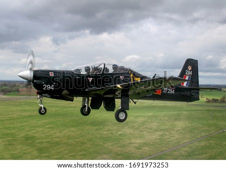 Royal Air Force (RAF) Training aircraft air to air photo sortie with instructors and pilots training to fly fast jets