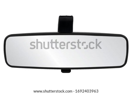 Image of interior rearview mirrors , car part isolated on white background Royalty-Free Stock Photo #1692403963