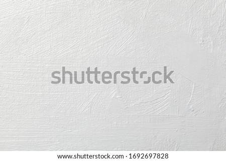 White grunge brush stroke on canvas background Royalty-Free Stock Photo #1692697828