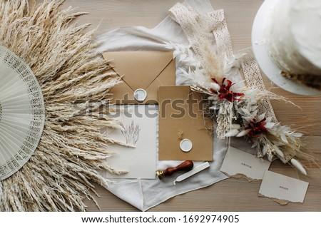 Beautiful wedding details. Wedding invitation. Wedding polygraphy.